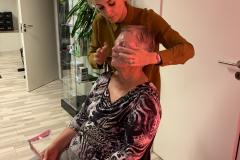 Demonstration med lækker maske fra Beauty Angel påføring 2